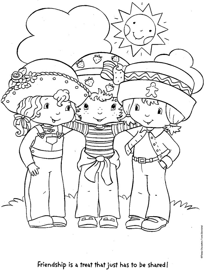 Coloring Page Strawberry Shortcake And Friends Coloring Me And Friends Coloring Pages