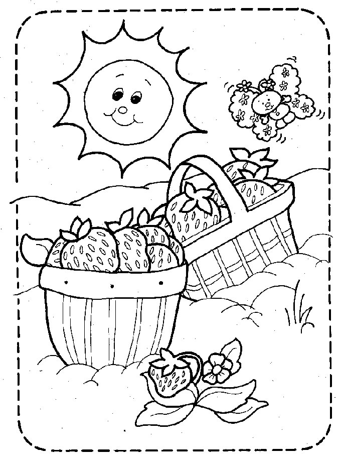 coloring page strawberry shortcake picnic basket Crops and Farm Animals Empty Farm Crop Clip Art