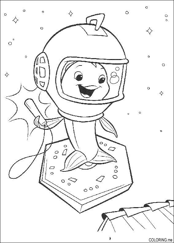 Coloring page chicken little fish ufo coloring me