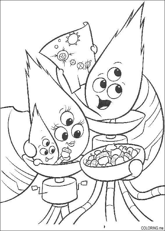 Coloring page Chicken Little ufo feast Coloringme
