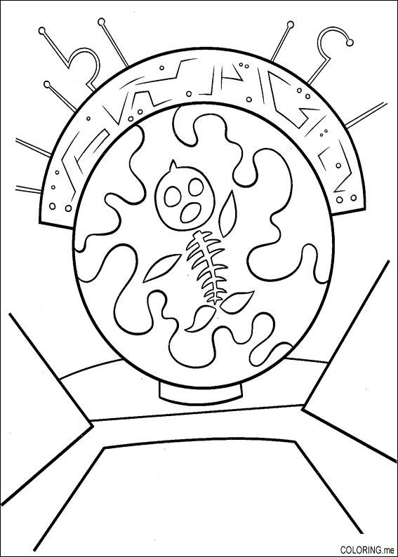 Coloring page Chicken Little fish skeleton Coloringme
