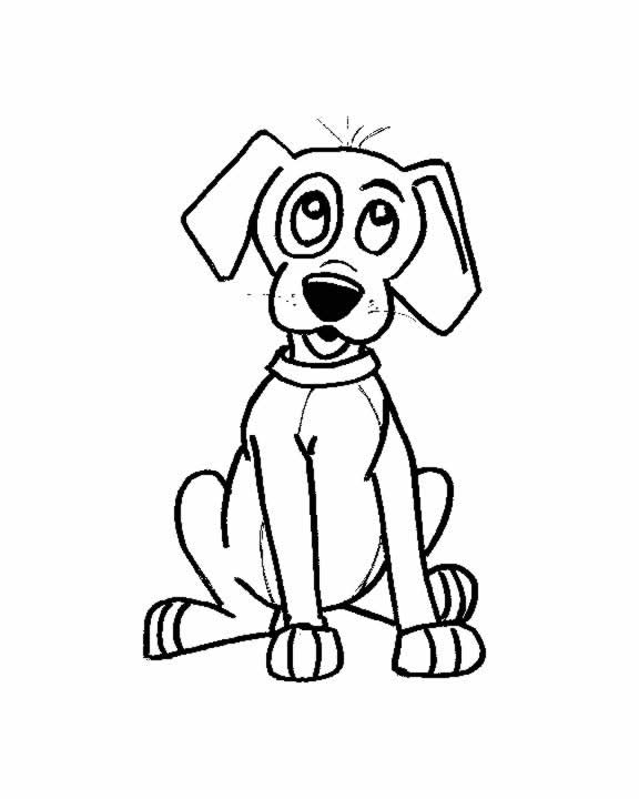 Coloring page little dog for Little puppy coloring pages