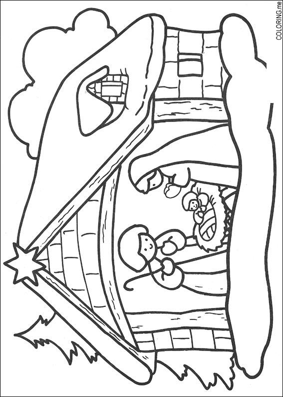 Coloring page : Christmas jesus born - Coloring.me