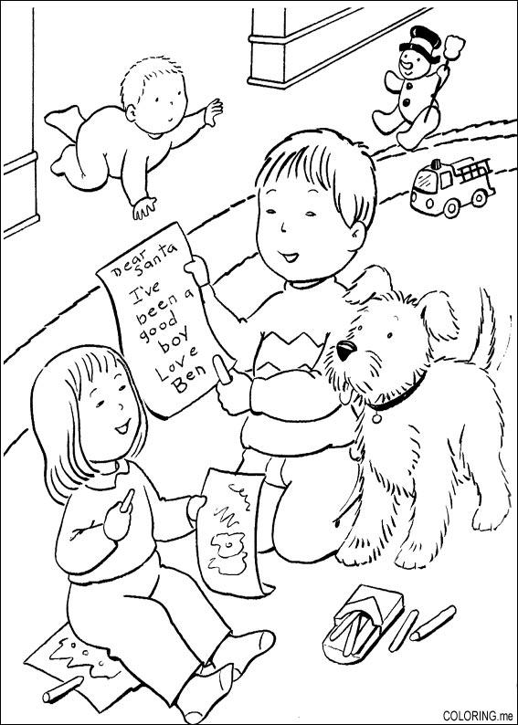 Print Coloring Pages For Christmas