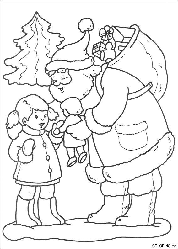 christmas doll coloring pages - photo#9
