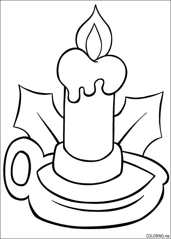 Coloring page  Christmas candle  Coloringme