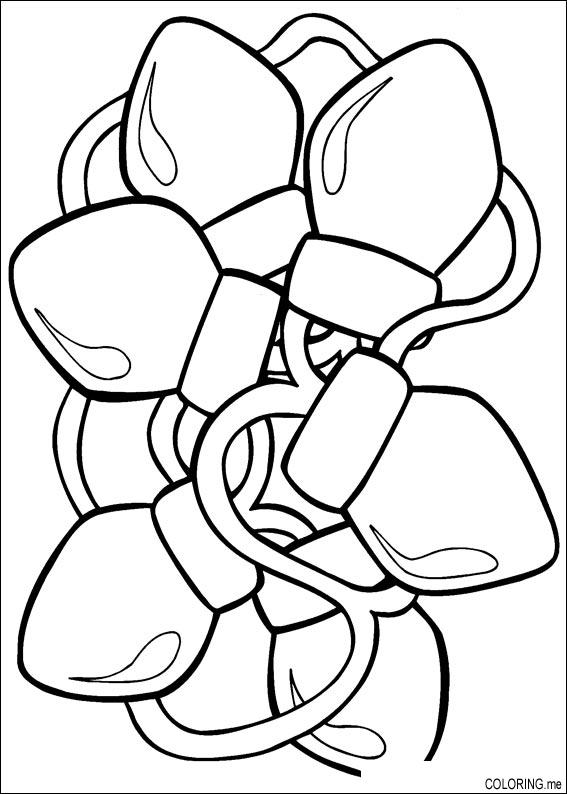 Coloring page Christmas light