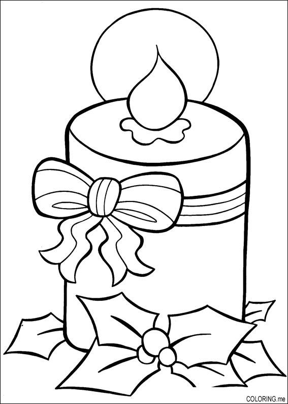 christmas line drawing christmas coloring book page holiday candle