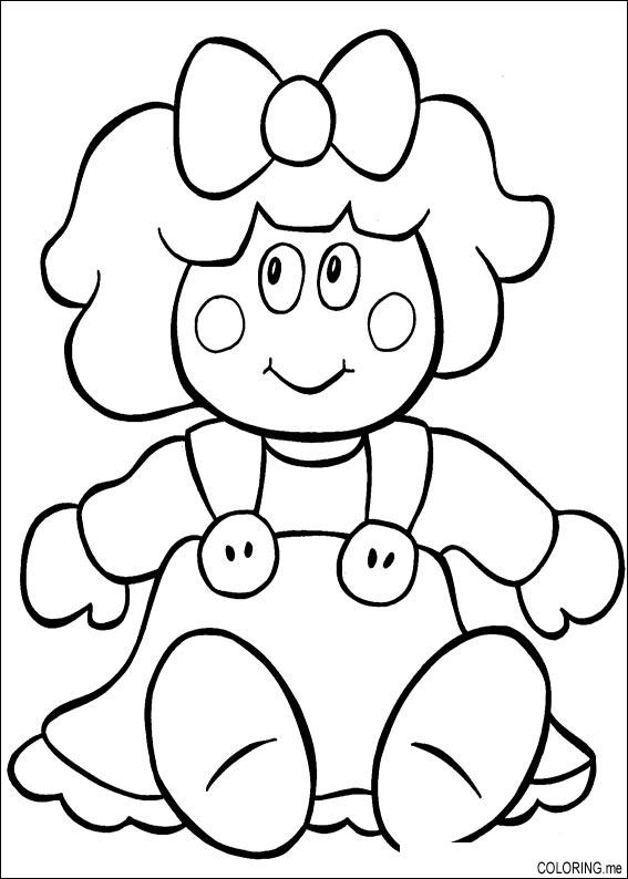 coloring pages of dolls - photo#7