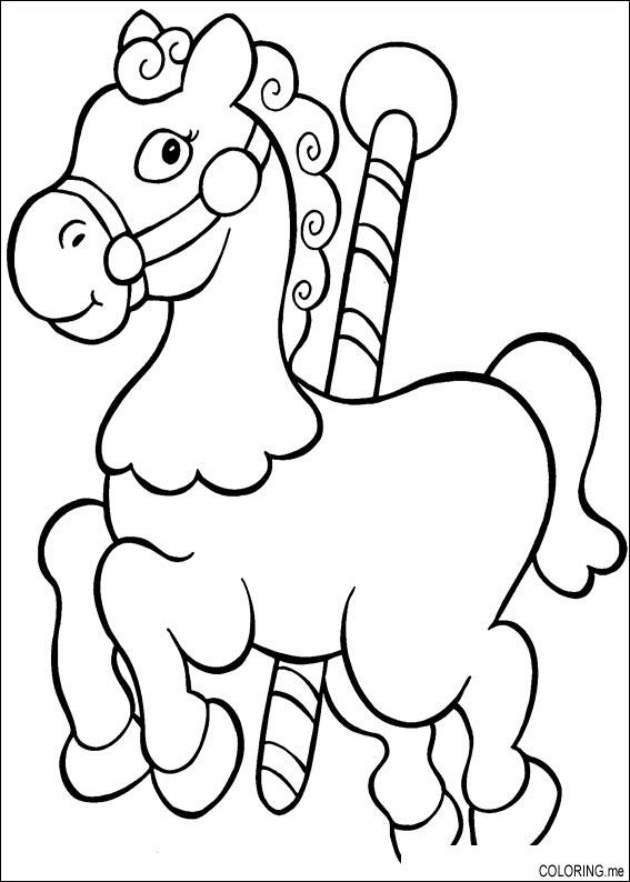 coloring page christmas horse coloringme