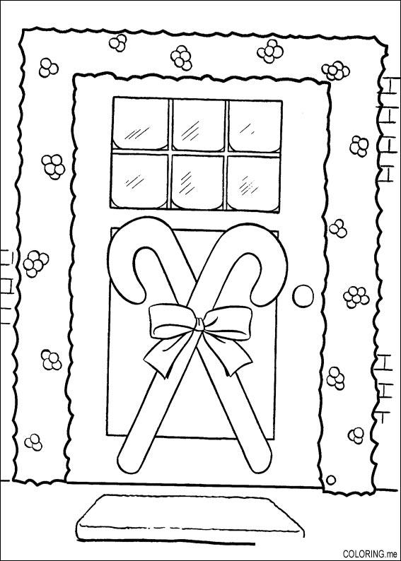 coloring pages of door - photo#32