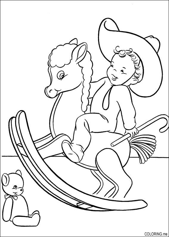 holiday horse coloring pages - photo#3