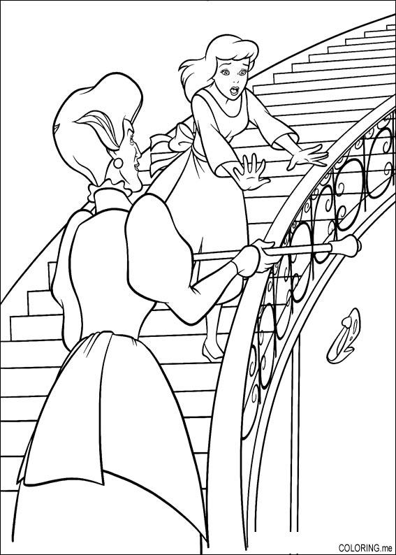 cinderella stepsisters coloring pages collections