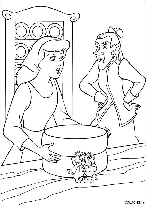 cinderella mice coloring pages - coloring page cinderella mouse problem