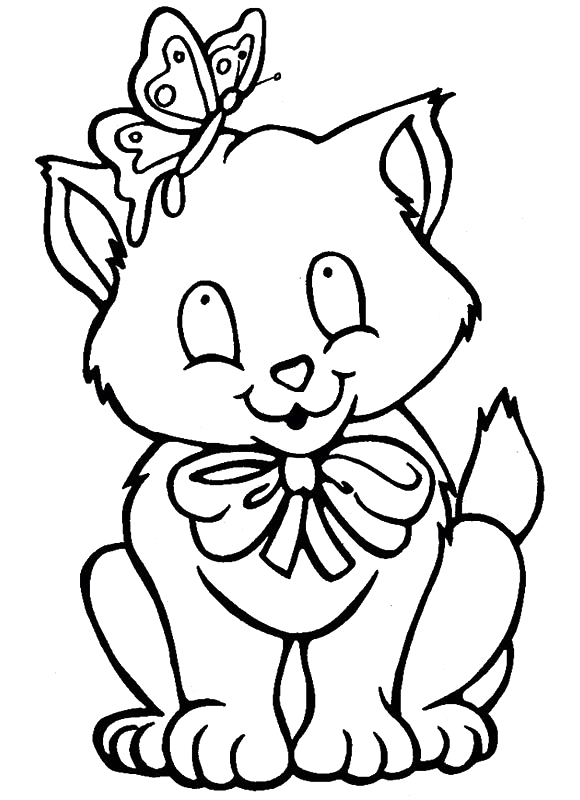 Coloring Page Little Cat Coloring Me