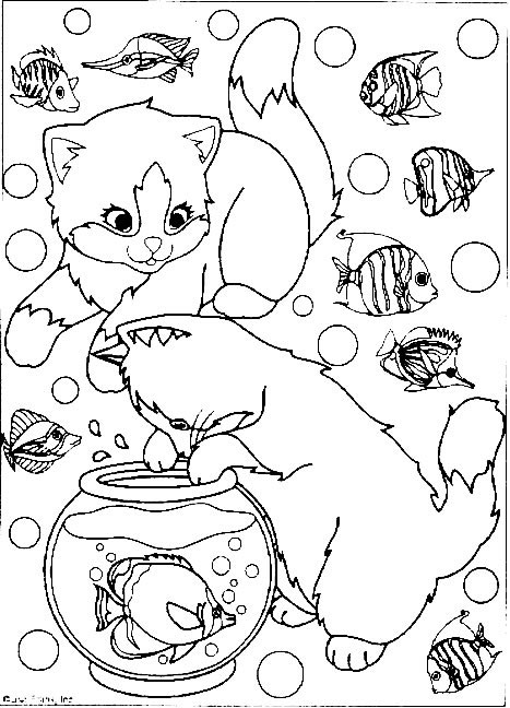 lisa frank coloring pages cats - photo#28
