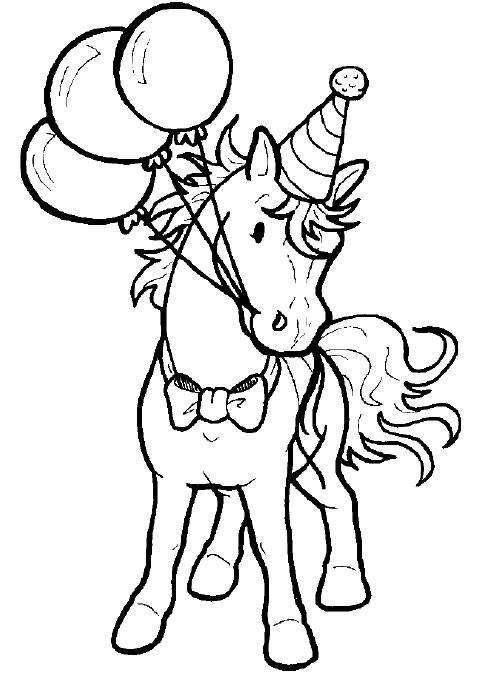 Coloring Page Cheval