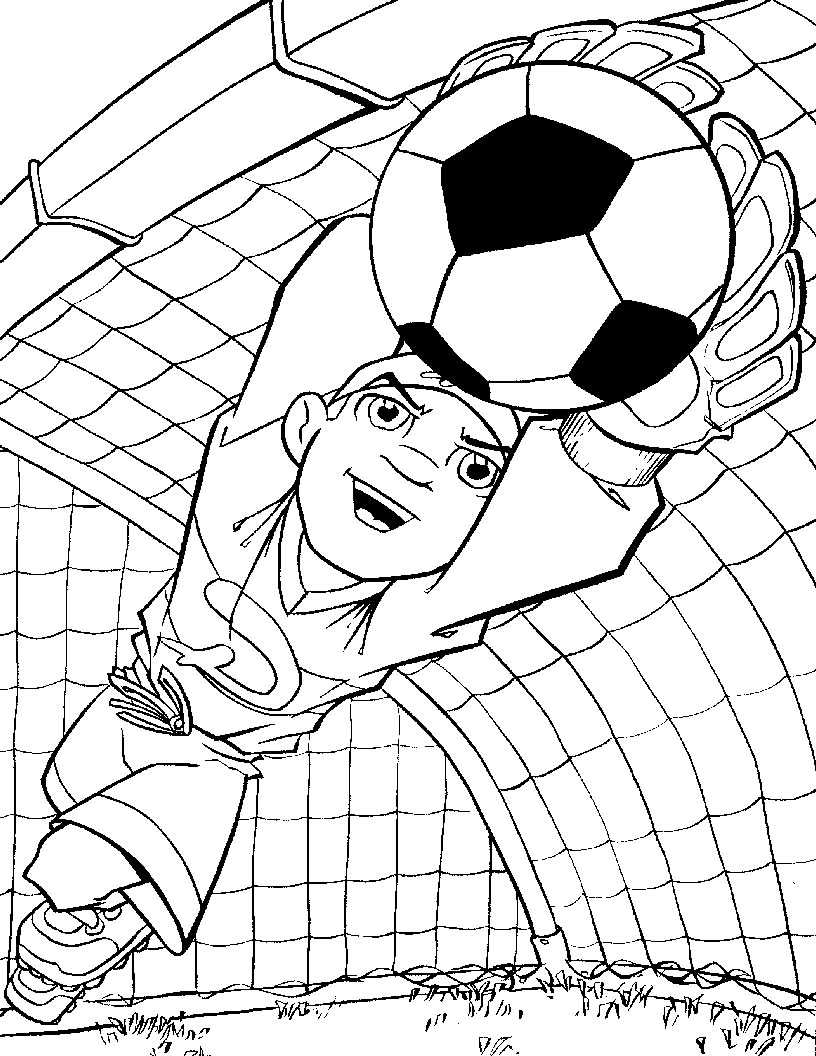 Coloring page football goal for Football goal post coloring page