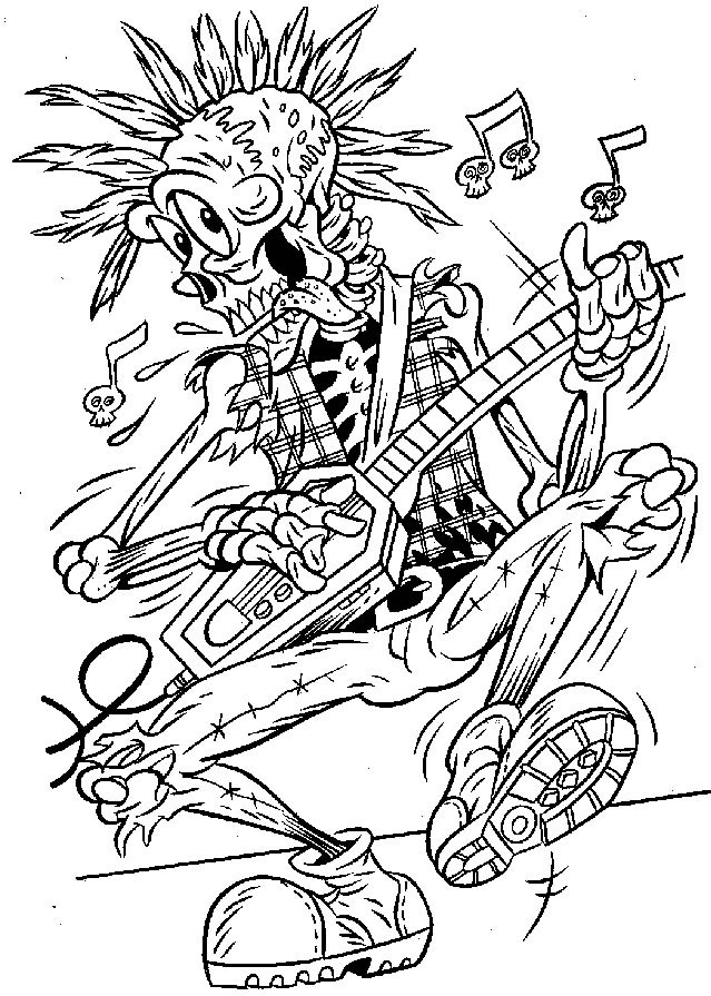 Coloring Page Halloween Skeleton