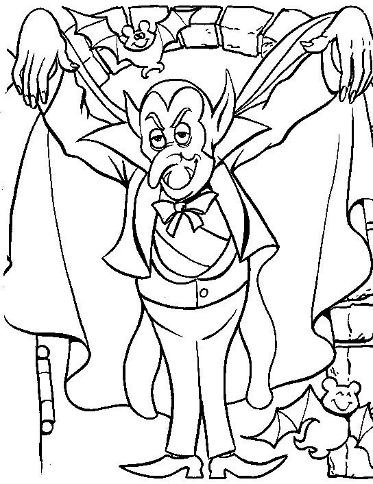 coloring page halloween dracula. Black Bedroom Furniture Sets. Home Design Ideas